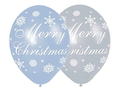 Amscan International ltd 6 x Ballons en Latex - Merry Christmas