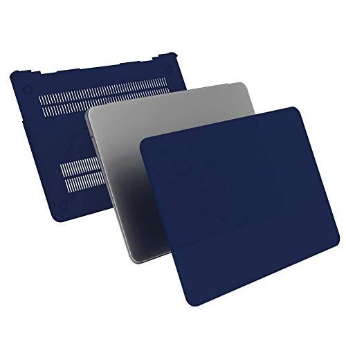 iCasso Hartplastik-Schutzhülle, Displayschutzfolie, Tastaturabdeckung und Staubschutzstopfen für MacBook Air 13 Zoll Modell A1369/A1466 - Marineblau