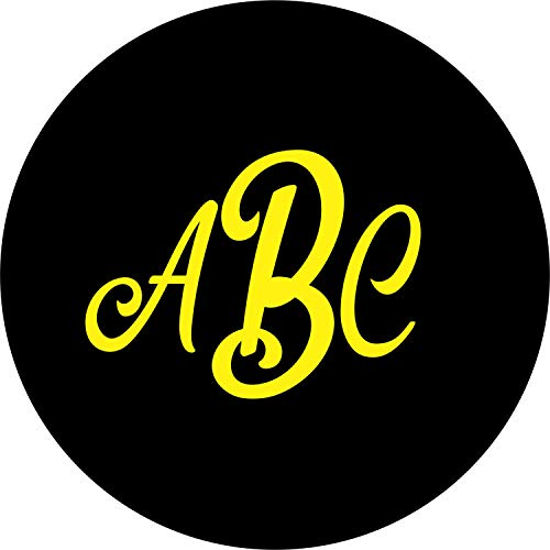TIRE COVER CENTRAL Monogram Initials Spare Tire Cover (Select tire Size/Back up Camera Option in menu) Custom Sizes for Any Make Model