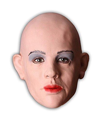 Realistische Frauenmaske aus weichem Schaumlatex. Eine sexy Female Mask nicht nur für Frauen.