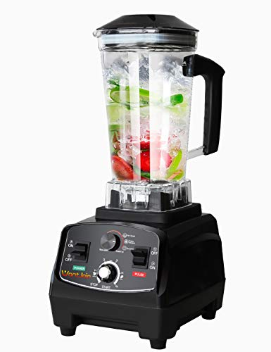 WantJoin Professional Blender, Countertop Blender ,Blender for kitchen 2200W High Power Home and Commercial Blender with Timer, Smoothie Maker 2200ml for Crushing Ice, Frozen Dessert, Soup,fish
