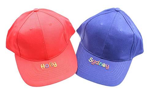Cap Blau mit Namen - Personalisierte Kindercappy rot oder blau - Schirmmütze für Mädchen Jungen - Basecap für Kinder mit Wunschbeschriftung Cappy