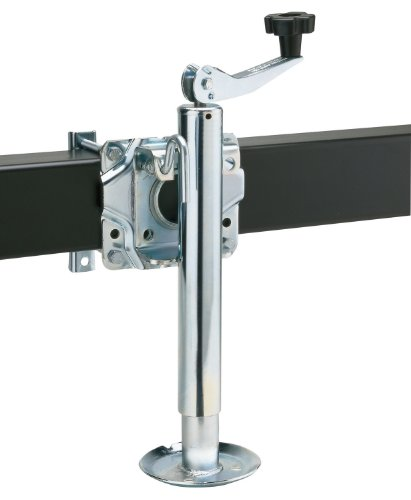Reese Towpower 74413 Trailer Swivel Mount Jack, Chrome