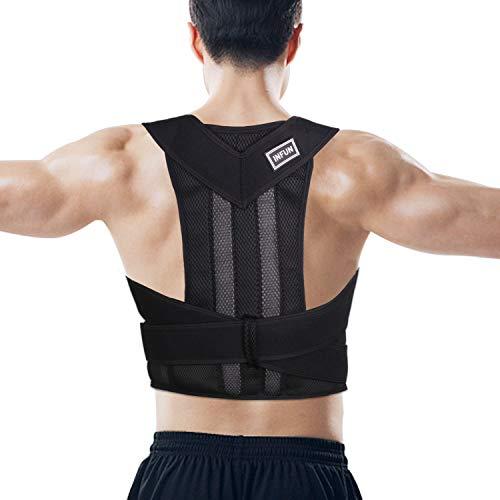 INFUN Geradehalter zur Haltungskorrektur Geradehalter Rücken Bandage zur Haltungskorrektur bei Rücken Nacken und Schulterschmerzen Damen und Herren M