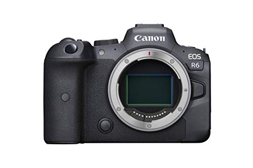 Canon EOS R6 Full-Frame Mirrorless Camera with 4K Video, Body Only, Black (Renewed)