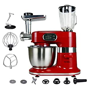 Kitchen Stand Mixer Electric Aifeel 1000W 5-Speed Setting Electric Tilt-Head Food Mixers Meat Grinder Dough Blender Juice Extracter with 5.5L Stanless Mixing Bowl,Dough Hook,Balloon Whisk