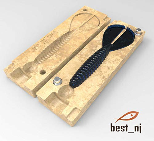 best_nj Soft Plastiс Mold Lure Injection Molds Fishing Lures Mold Twin Tail Menace 3.4'' DIY Making