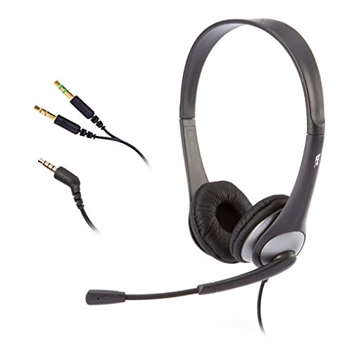 New Cyber Acoustics Stereo Headset, Headphone with Microphone, Great for K12 School Classroom and Ed...