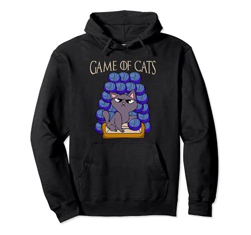 Game Of Cats - Gato con lana en el trono Sudadera con Capucha