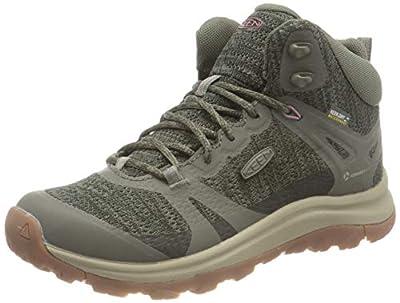 KEEN Women's Terradora 2 Waterproof Mid Height Hiking Boot, Dusty Olive/Nostalgia Rose, 8