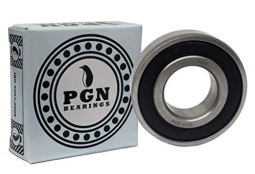 "(10 Pack) PGN - R12-2RS Sealed Ball Bearing - C3 Clearance - 3/4""x1-5/8""x7/16"" - Lubricated - Chrome Steel"