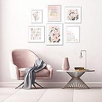Set of 6 ArtbyHannah White Framed Gallery Wall Frame Kit