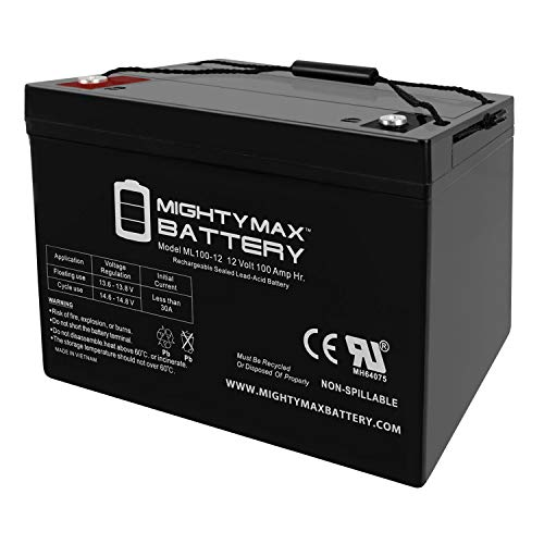Mighty Max Battery 12V 100Ah SLA AGM Battery for Goal ZeroYeti 1250 Solar Generator Brand Product