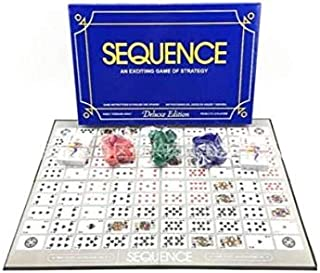 Deluxe Sequence Game-Tri-lingual Deluxe Edition Sequence Game with Playing Chips Family Board Sequence Playing Cards Game