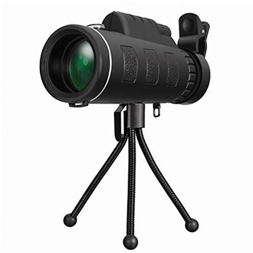 WZP-40x60 Telescopio monocular de Alta Potencia BAK-4 HD con Soporte para Smartphone y trípode, telescopio de Zoom Impermeable para observación de Aves, Caza, Camping