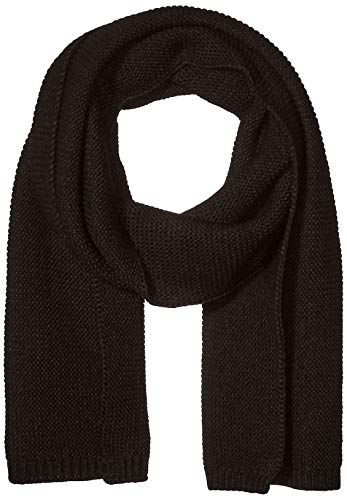 Steve Madden Men's Knit Scarf, black, One Size