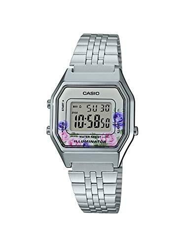 Casio Damen Digital Quarz Uhr mit Edelstahl Armband 4.54953E+12