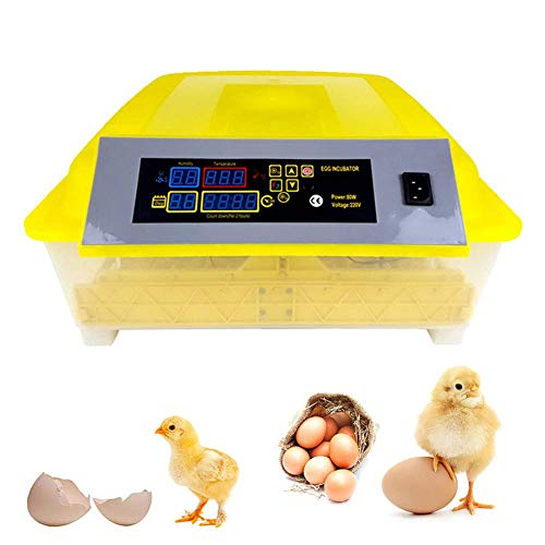 ZFF Incubators, 56 Egg Fully Automatic Intelligent Digital Temperature/Humidity Control for Chicken Duck Goose Poultry Hatcher (Size : 220V)