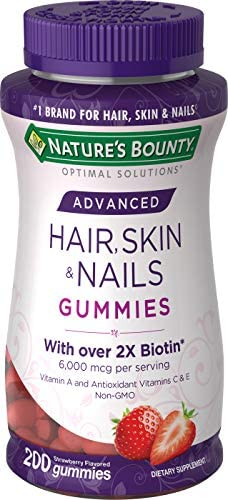 Nature s Bounty Optimal Solutions Advanced Hair Strawberry 200 Count product image