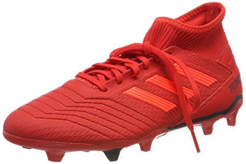 Adidas Predator 19.3 FG, Botas de fútbol Hombre, Multicolor (Rojact/Rojsol/Negbás 000), 42 EU