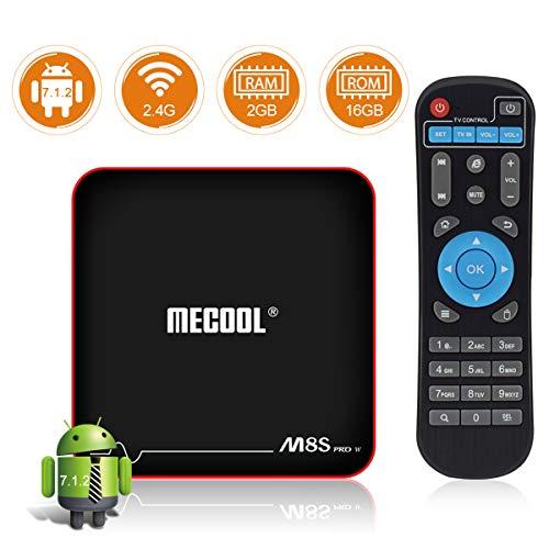 Sidiwen MECOOL M8S PRO W Android TV Box 7.1.2 2GB RAM 16GB ROM Amlogic S905W Quad Core Smart Set Top Box Support 2.4G WIFI 10/100M Ethernet 3D 4K UHD OTA Update Internet Media Player