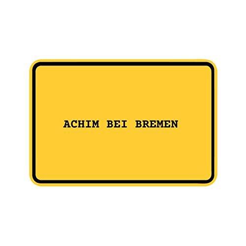 JOllify Aufkleber - Achim BEI Bremen – Farbe: Design: Ortsschild