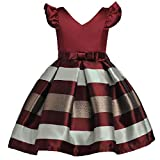 Dresses for 14 Year Old Girl Dresses for Children 13-14 Girls Fancy Dress Girls Dress Pageant Girls Retro Dress Girls Vintage Dresses (1780 Burgundy,14)