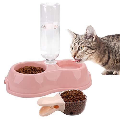 Legendog Pet Bowl Antislip Hond Voedselkom Kattenvoerbak met Waterfles & Voedsel Scoop Geraffineerd product