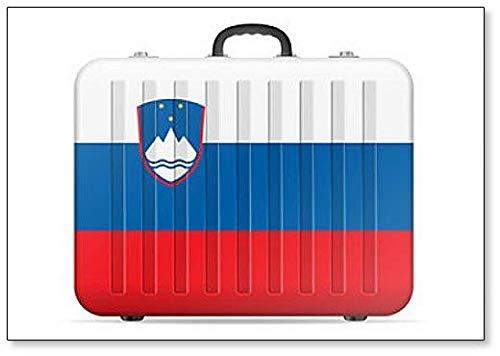 Reisekoffer mit Slowenien-Flagge, klassischer Kühlschrankmagnet