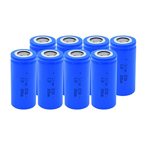 josiedf 3.2v 8000mah 32700 Lithium Li-Ion Batteries, Rechargeable Battery for Scooter Power Tool 8Pieces