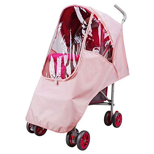 JACKWS Cozy Poussette Rain Cover, EVA Universal imperméable Coupe-Vent Pram poussière Shield Accessoires de poussettes (Bleu) (Color : Pink)
