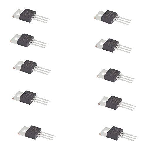 Movilideas - 10 Unidades del Transistor IRFZ44N IRFZ44 Canal N Internacional Rectificador Power Mosfet