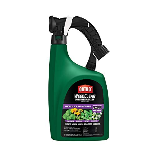 Ortho 449105 WeedClear Weed Killer Ready-to-Spray3-Results in Hours, Kills Dollarweed, Dandelion, Clover and Chickweed to the Root, Won't Harm Lawn Grass When Used as Directed, 32 oz