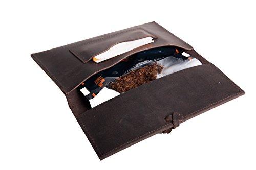 ideal para almacenar tabaco rotatorio y papel de cigarrillo ANDERS Bolsa para tabaco Cuero