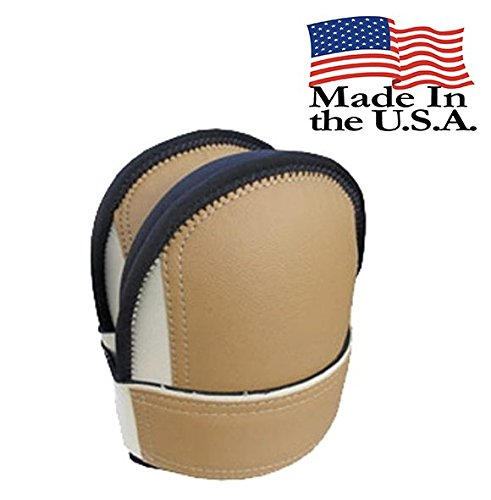 TROXELL USA - Supersoft Leatherhead Kneepads - Beige, Bagged in Pairs