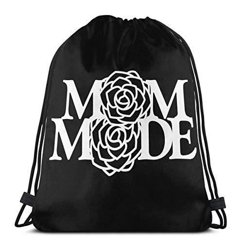 Mom Mode Drstring Bags Lightweight Gym Sport Bapa per Travel Beach