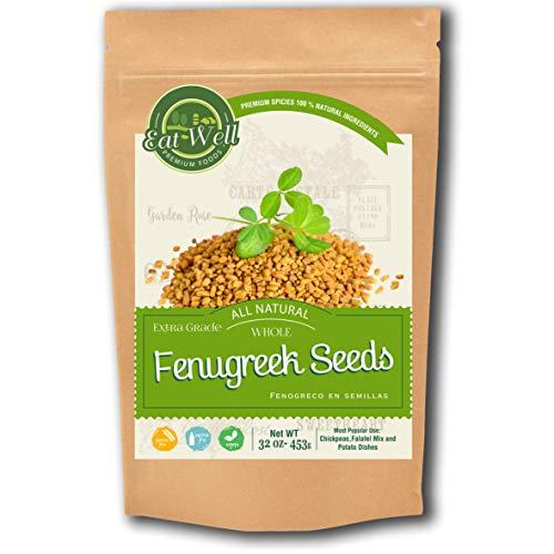 Fenugreek Seeds | 32oz - 907 g - Reseable Bag -Bulk | Whole Fenugreek Methi Seed | Fenogreco en Semillas | Gluten Free & Non-GMO | Trigonella Foenum Graecum
