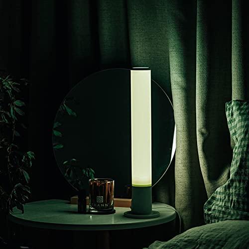 YHYYU Lámparas de Mesa mesilla de Noche RGB con Mando a Distancia LED de 5W Lámparas de Escritorio Regulables Luces de Humor para dormitorios, Habitaciones Infantiles