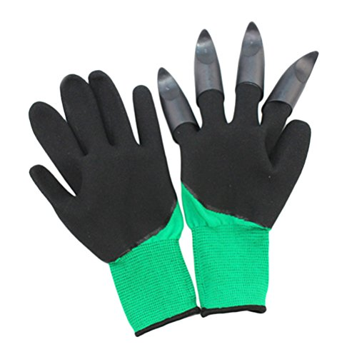 Zhhlinyuan Garden Genie Gloves, Thorn Resistant Gardening Gloves with Claws for Pruning Roses, Digging, Planting, Raking for Gardeners