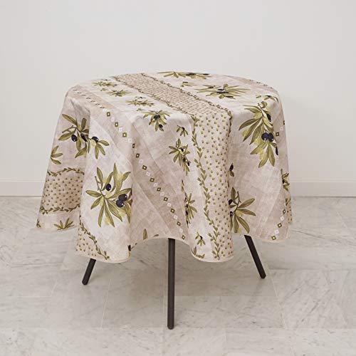 Les Jolies Tafelkleed Rond Provençaalse Vlekbestendige 160 cm Montelimar Beige