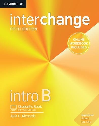 Interchange 5Ed Intro Student Book B With /Online Self-Study and Online Work Book