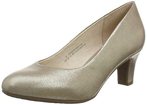 Bugatti Damen 411637704000 Pumps, Gold (Gold 5100), 39 EU