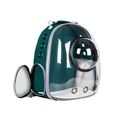 TENDYCOCO Pet Backpack Capsule Breathable Pet Carrier Chest Backpack Travel Bag for Puppy Small Dog Cat-Green