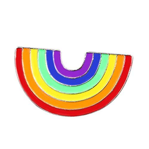 TOOGOO Mode Regenbogen Bunte Emaille Pins Metall Broschen für Frauen Karikatur Kreative Mini Regenbogen Metall Brosche Pins Denim Hut Abzeichen Kragen Schmuck Xz162