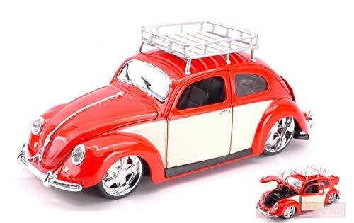 Maisto MI32614 VW Beetle 1951 RED/Cream 1:18 MODELLINO DIE CAST Model kompatibel mit