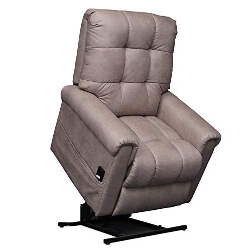 DNNAL Sofá de Silla reclinable con Elevador de energía eléctrica para Ancianos, Sillón reclinable eléctrico Ajustable con Modernos Brazos y Respaldo Acolchados