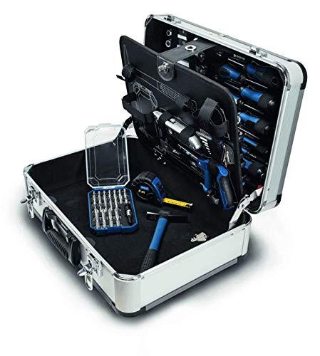 Scheppach TB150 Werkzeugkoffer 101 teilig bestückt Metallkoffer Handwerkerkoffer