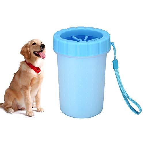 TOCYORIC Limpiador Patas Perro, Limpiador de Huellas de Perro, Cepillo para Perros-Limpia Patas Perro, Mascota portátil Limpiador, Limpiador de Patas para Perro Gato