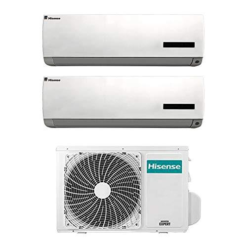 Condizionatore climatizzatore inverter dual split Hisense 9+9 9000+9000 btu