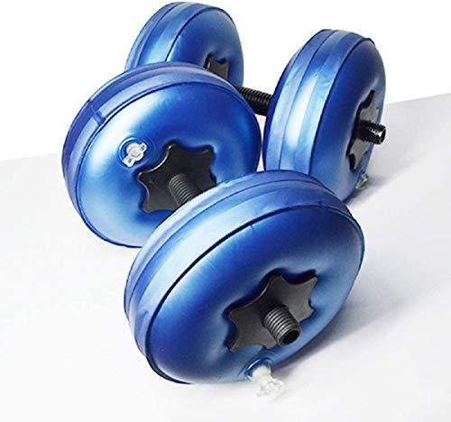 Aigend Set Palestra Manubri, Manubri Pieni d'Acqua Fitness Attrezzature per L'Allenamento della Forza Riempiti con Acqua da Viaggio di Pesi Uomo e Donna Fino a 8-20 kg (8-10kg)